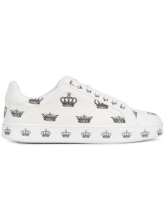 кеды London с узором из корон Dolce & Gabbana