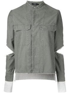 ribbed detail jacket  Bassike