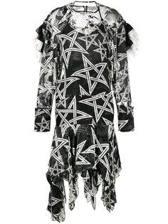 асимметричное платье с принтом звезд Alena  Preen By Thornton Bregazzi