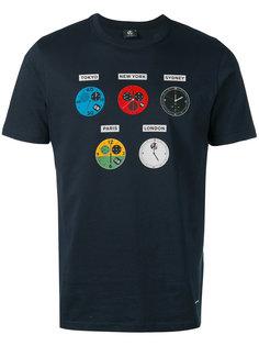 футболка с принтом часов Ps By Paul Smith