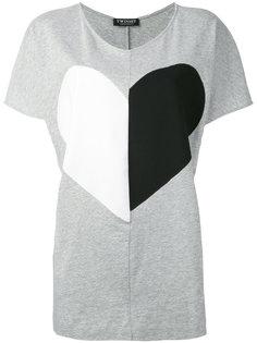 футболка с принтом сердца  Twin-Set