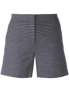 шорты с узором из точек и черточек Armani Jeans