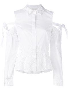 поплиновая рубашка Cold Shoulder  Jonathan Simkhai