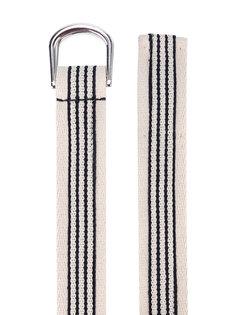полосатый ремень с D-образной пряжкой Isabel Marant