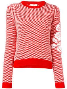 свитер с цветочным рисунком Fendi