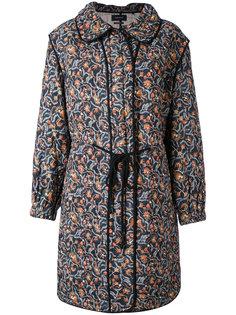 стеганое пальто с цветочным принтом Isabel Marant