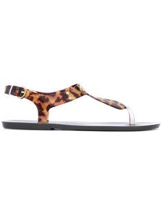 сандалии с леопардовым принтом Michael Michael Kors