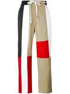 брюки дизайна колор-блок Liam Hodges
