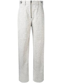 меланжевые широкие брюки  Isabel Marant