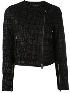 байкерская куртка с вышивкой  Federica Tosi
