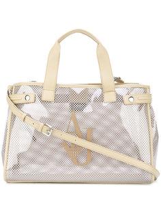 сумка-тоут с прозрачными панелями Armani Jeans