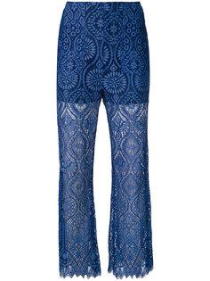 брюки с кружевной отделкой MSGM