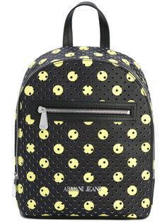 перфорированный рюкзак с принтом в горох Armani Jeans