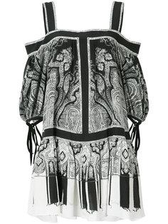 платье с узором пейсли Alexander McQueen