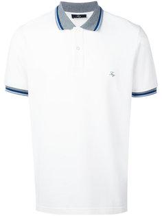 футболка-поло с контрастным воротником Fay