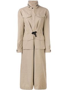 пальто в стиле милитари с присборенной талией Vis A Vis