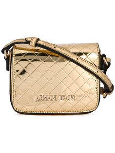 маленькая стеганая сумка с логотипом Armani Jeans