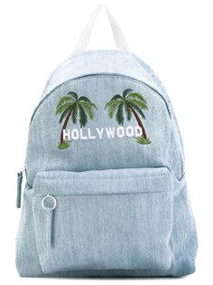 джинсовый рюкзак с принтом пальм Joshua Sanders