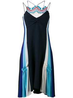 платье с вышивкой Peter Pilotto