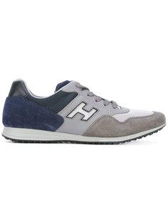 кроссовки со шнуровкой и панельным дизайном Hogan