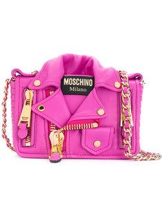 сумка на плечо в виде байкерской куртки Moschino