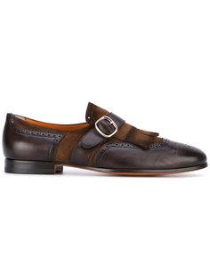 туфли-монки с бахромой Santoni