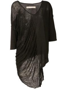асимметричное платье с драпировкой Raquel Allegra