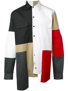 асимметричная рубашка дизайна колор-блок Liam Hodges