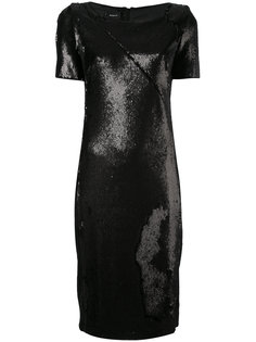 металлизированное платье-шифт Akris