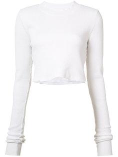 укороченная футболка с длинными рукавами Cotton Citizen