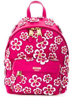 рюкзак с цветочной аппликацией Moschino