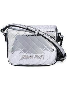 стеганая сумка на плечо с логотипом Armani Jeans