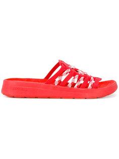 lace-up detail slip-on sandals Missoni