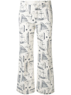 брюки с принтом кораблей Tory Burch