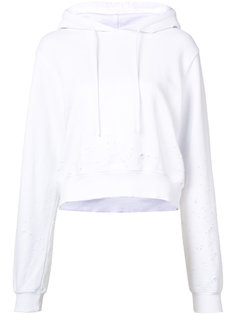 distressed cropped hoodie Cotton Citizen