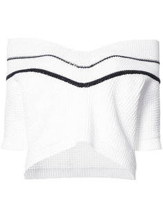 chunky knit off the shoulder jumper Carolina Herrera