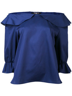 off-shoulder frilled blouse Paule Ka