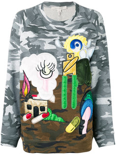 джемпер с заплатками landscape  Marc Jacobs