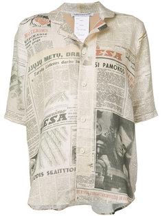 newspaper print shirt  Cherevichkiotvichki