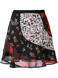 юбка лоскутного кроя с цветочным принтом Coach