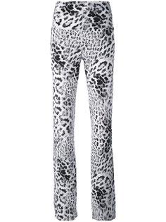 расклешенные брюки с леопардовым принтом Norma Kamali