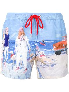 спортивные шорты с принтом  Moncler