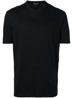 футболка с вышивкой Emporio Armani