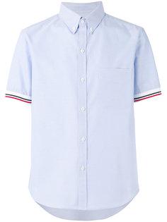 рубашка с манжетами в рубчик Moncler Gamme Bleu