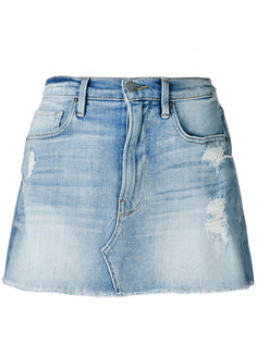 distressed denim skirt Frame Denim
