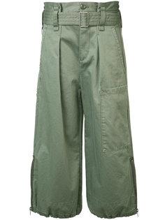 расклешенные укороченные брюки Marc Jacobs