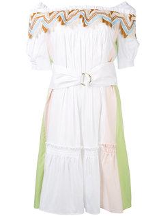 платье с гипюровой отделкой  Peter Pilotto