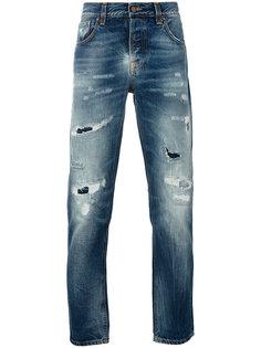 рваные джинсы Nudie Jeans Co