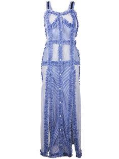 длинное платье с оборками  Attico