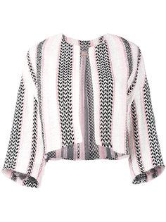 тканый укороченный пиджак Giambattista Valli